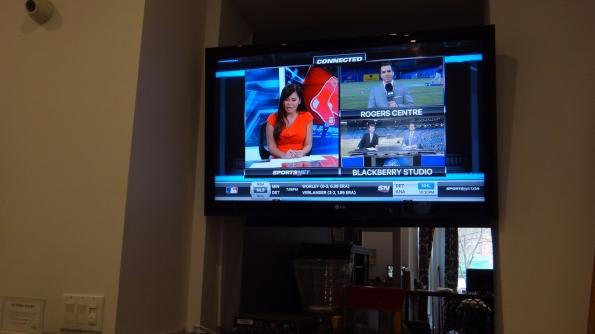 TV falando do jogo